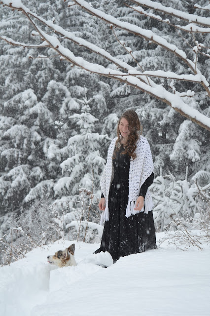 Greta and I in the snow