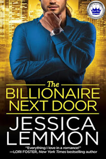 romance novel cover, contemporary romance, The Billionaire Next Door by Jessica Lemmon