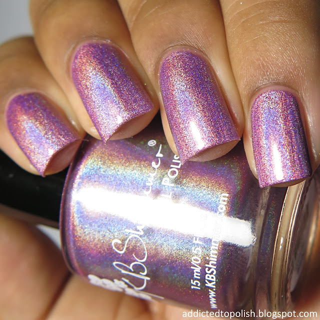 kbshimmer peony pincher spring 2016 pink holo