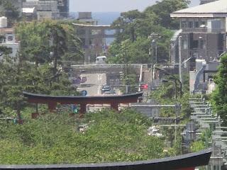 上宮楼門前からの景色