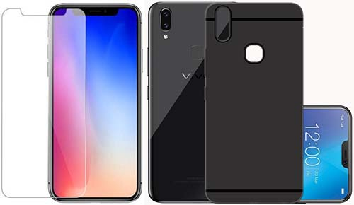 buy online bb6fb 43d39 Vivo V9 Best Tempered Glass Screen Protector Cases and Covers