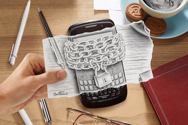 Drawing Vs Photography Art by Ben Heine - Smartphone - Artificial Intelligence