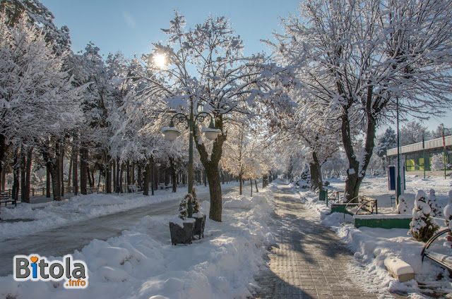 City Park, Bitola, Macedonia - 27.01.2019