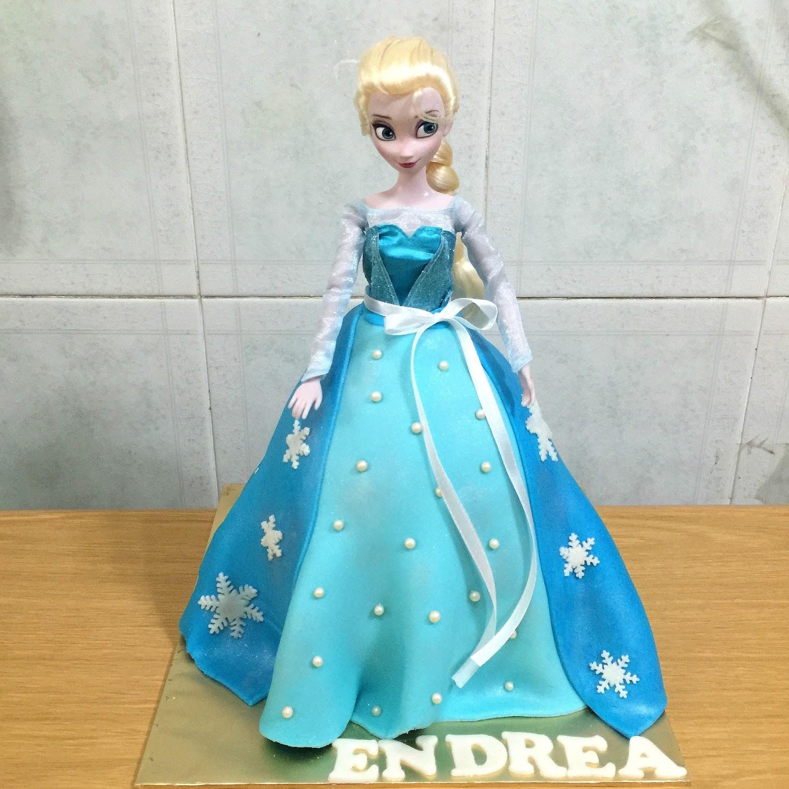 Frozen Princess Elsa Doll Cake Sherbakes