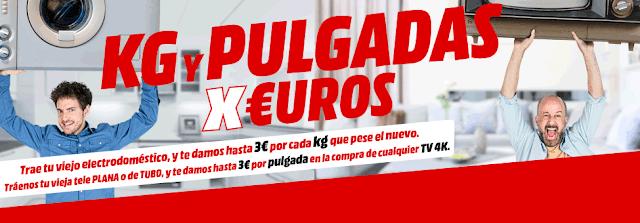 Top 10 ofertas folleto Kg y Pulgadas por Euros de Media Markt