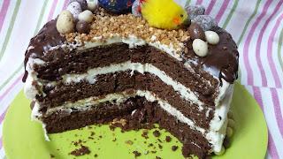 EASTER DRIP CAKE.  Corte