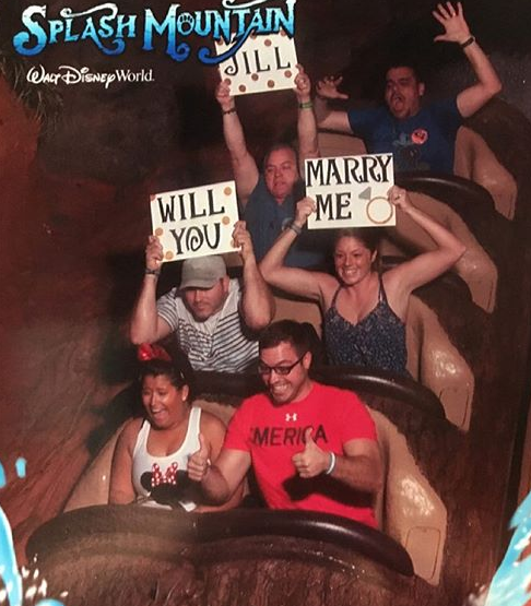 Pedido de casamento em atrações em Orlando