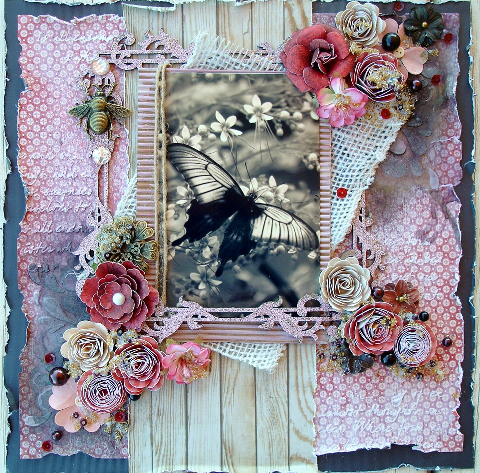 Country Craft Creations: DT Project using Graphic 45 Mon Amour collection 12x12 Scrapbook Layout ...