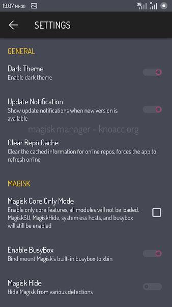 Magisk v12 Screenshoot