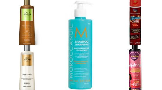 shampoos low poo com oleo de argan