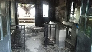 Incendiaron las boleterías de la estación Pueyrredón