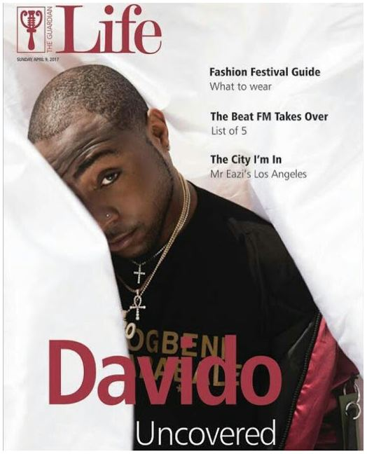 Davido Looks Dapper As He Graces The Cover Of Guardian Life Magazine