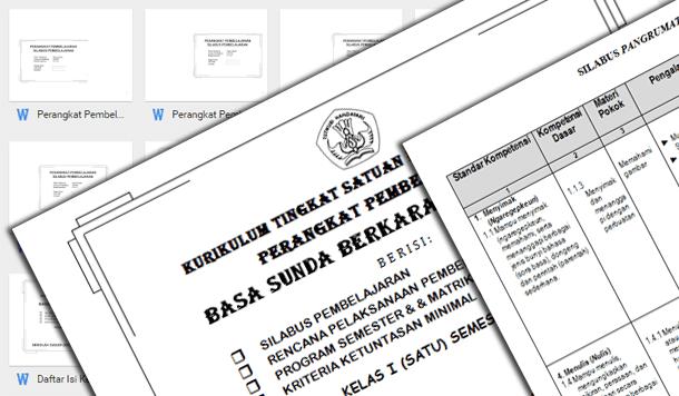 Perangkat Pembelajaran Bahasa Sunda Kelas 1 2 3 4 5 6 SD MI Lengkap