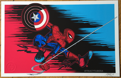 "Captain America: Civil War ""Underoos"" Spider-Man Print by Tracy Tubera"