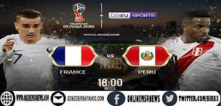 موعد مباراة فرنسا وبيرو اليوم الخميس 21-6-2018 والقنوات الناقلة لها كأس العالم 2018