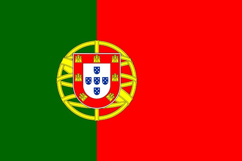 Logo Gambar Bendera Negara Portugal PNG JPG ukuran 800 px