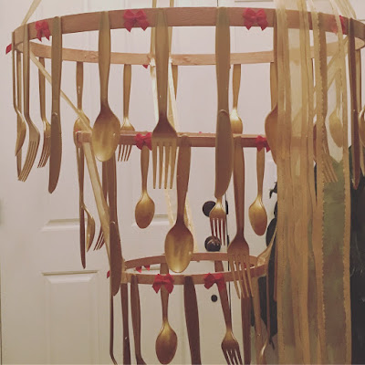 Beauty and the beast chandelier DIY, Girls camp