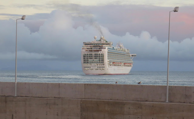 the cruise ship leaves Madeira island