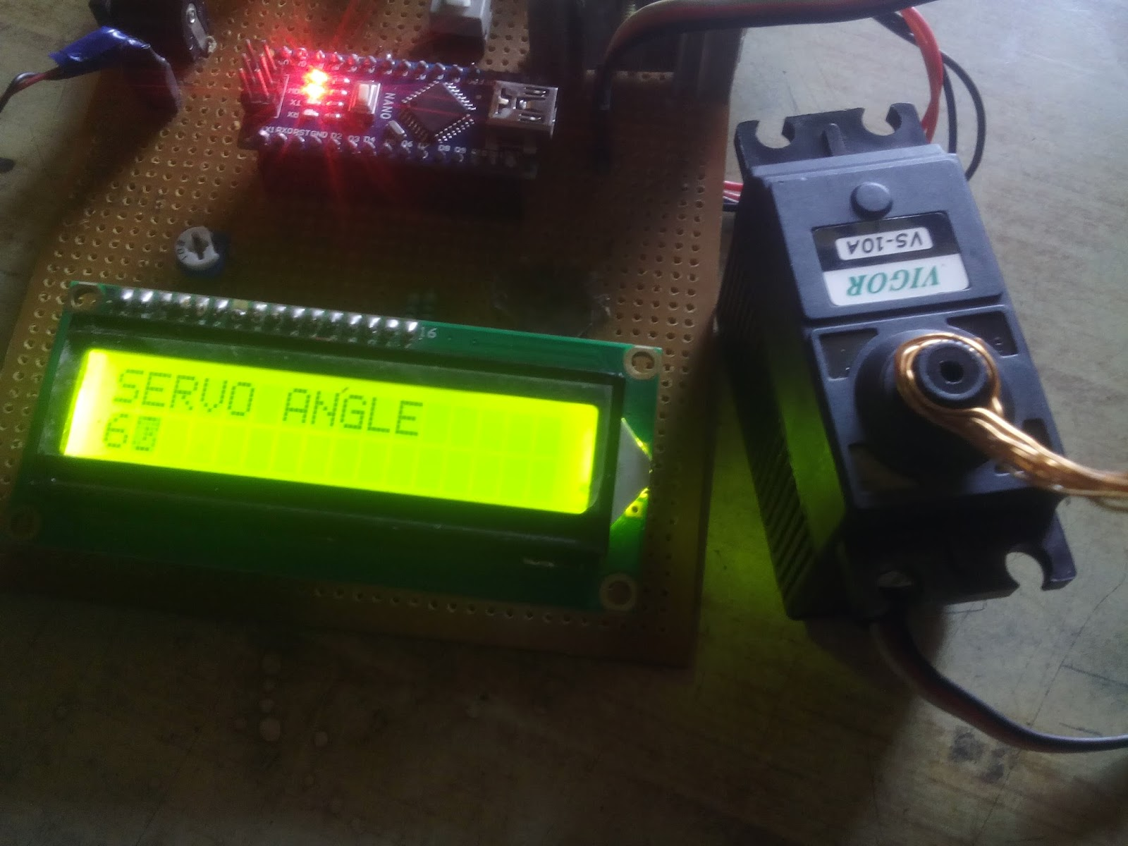 Arduino Servo Test with LCD Display