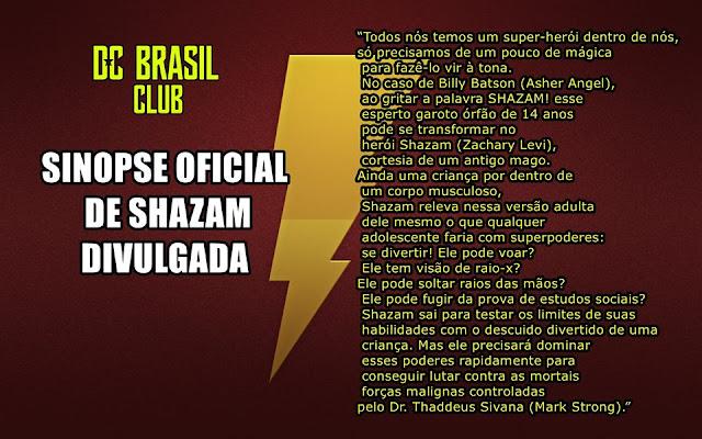 Sinopse de Shazam oficialmente divulgada