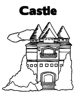 Cartoon Design: Disney Princess Castle Coloring Pages To Kids