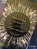 The Spark of Life: Electricity in the Human Body, by Frances Ashcroft, superimposed on Intermediate Physics for Medicine and Biology.