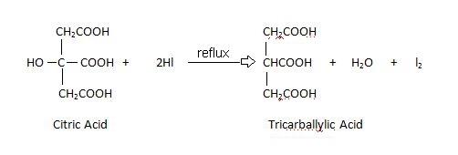 citric acid Reduction.