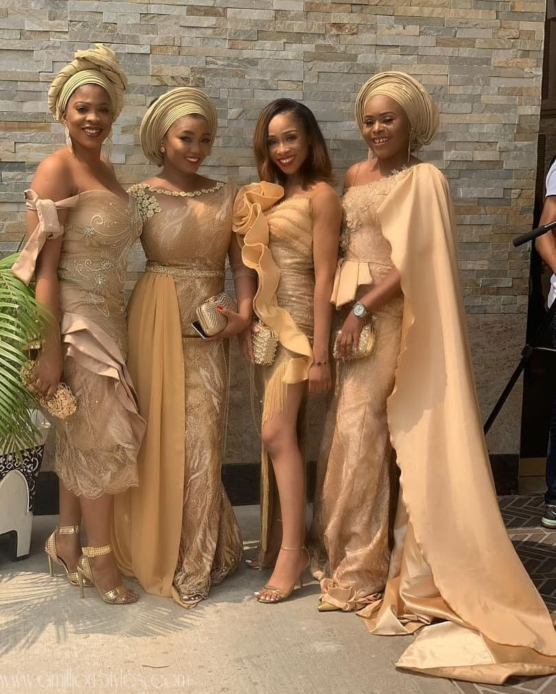 c9ed9b84060 CHECK OUT THESE GROUP ASOEBI LADIES FROM THE WEDDING – Trendy Ankara ...