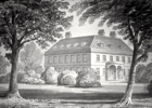 Drawing of Brookmans House by Clutterbuck 1840 Image from the NMLHS, part of the Images of North Mymms collection