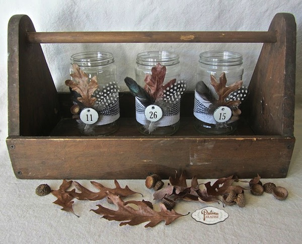 easy fall mason jar centerpiece