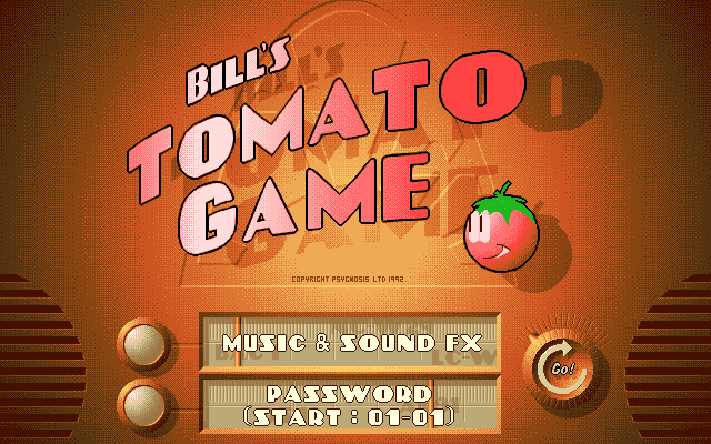 BIll's Tomato Game title screen