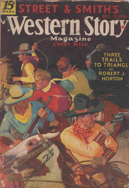 Western Story, December 12, 1931 cover by Walter M. Baumhofer