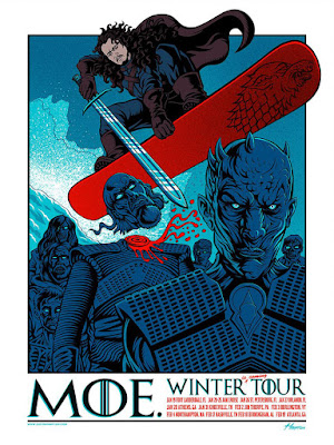 Justin Hampton MOE Winter Tour Poster