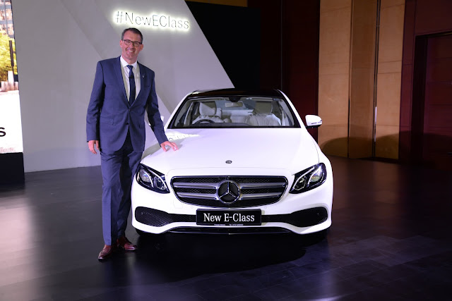Michael Jopp, VP Sales and Marketing, Mercedes-Benz India unveiling the new E-Class at Hyatt Regency Chandigarh