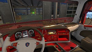 Scania RJL Red&White interior by Alexandar Lone Wolf
