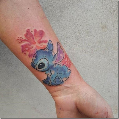 Lilo and Stitch color disney tattoos