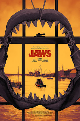 Jaws Movie Poster Variant Screen Print by Phantom City Creative x Mondo