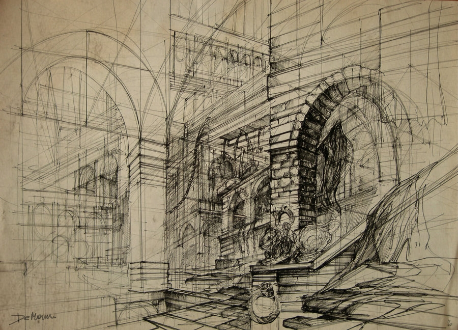 01-Dungeon-Monika-Domaszewska-Ghosted-Architectural-Drawings-www-designstack-co