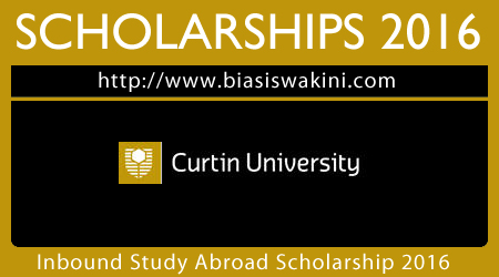 Curtin University Inbound Study Abroad Scholarship 2016