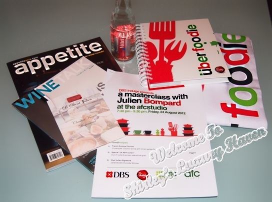 afc studio dbs masterclass food tasting goodie bag