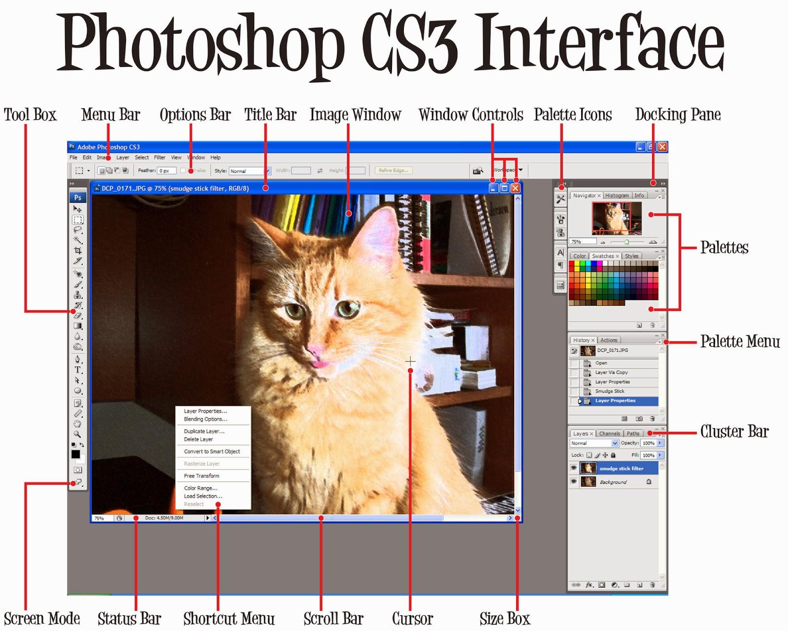 interface photoshop lg