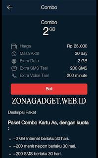 Daftar Paket COMBO Telkomsel 2017 Murah 2GB Cuma 25 Ribu