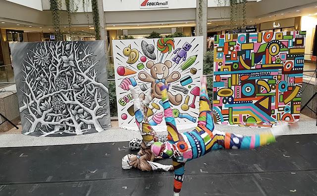 Ankara Devlet Opera ve Balesi Dancers - Ben Heine Art - Flesh and Acrylic - Colorful