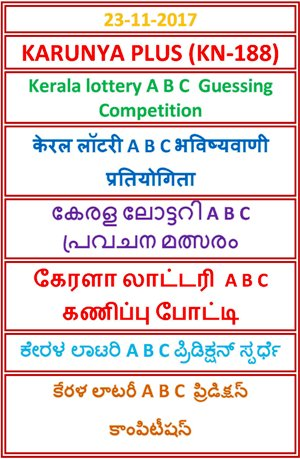 A B C Guessing Compatition KARUNYA PLUS KN-188
