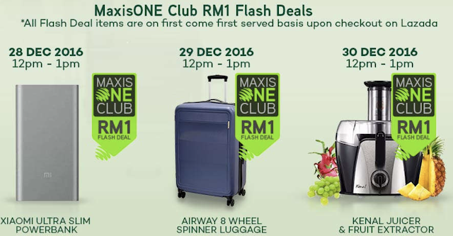 Maxis Flash Deals with MaxisONE Club on Lazada Malaysia