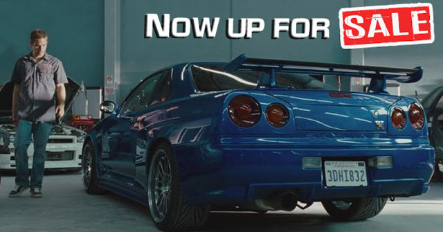 Paul Walker`s Hero Car Nissan GT-R is up for sale for