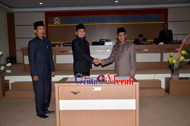 Perda APBD TA 2019 Kabupaten Mesuji Disahkan