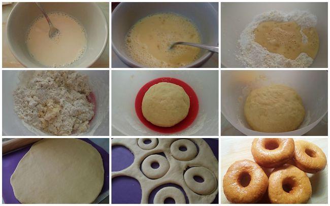 Preparación de los donuts