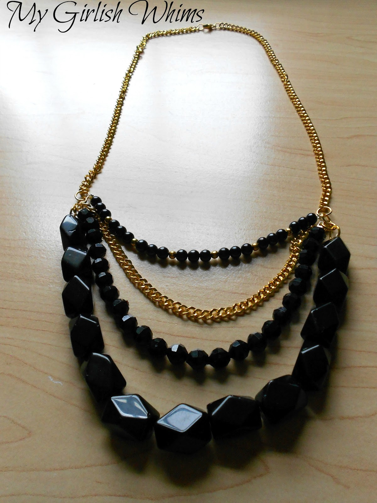 Diy Black Amp Gold Statement Bib Necklace My Girlish Whims