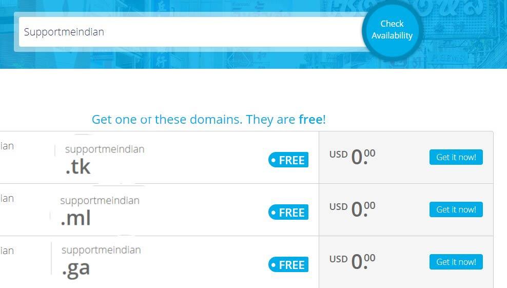 Free domain name kaise buy kare